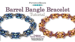 How to Bead / Free Video Tutorials / Bracelet Projects / Barrel Bangle Tutorial