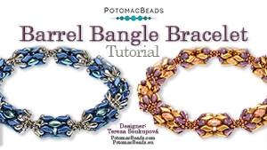 How to Bead Jewelry / Beading Tutorials & Jewel Making Videos / Bracelet Projects / Barrel Bangle Tutorial