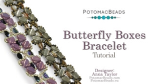 How to Bead Jewelry / Beading Tutorials & Jewel Making Videos / Bracelet Projects / Butterfly Boxes Bracelet Tutorial