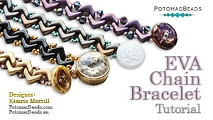 How to Bead Jewelry / Beading Tutorials & Jewel Making Videos / Bracelet Projects / EVA Chain  Bracelet Tutorial