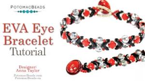 How to Bead Jewelry / Beading Tutorials & Jewel Making Videos / Bracelet Projects / EVA Eye Bracelet Tutorial