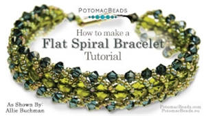 How to Bead / Free Video Tutorials / Bracelet Projects / Flat Spiral Bracelet Tutorial