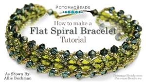 How to Bead Jewelry / Beading Tutorials & Jewel Making Videos / Bracelet Projects / Flat Spiral Bracelet Tutorial