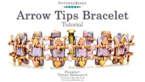 How to Bead Jewelry / Beading Tutorials & Jewel Making Videos / Bracelet Projects / Arrow Tips Bracelet Tutorial