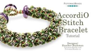 How to Bead / Free Video Tutorials / Bracelet Projects / AccordiO Stitch Bracelet Tutorial