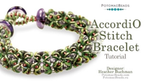 How to Bead Jewelry / Beading Tutorials & Jewel Making Videos / Bracelet Projects / AccordiO Stitch Bracelet Tutorial