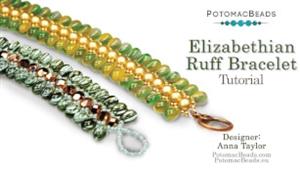 How to Bead / Free Video Tutorials / Bracelet Projects / Elizabethian Ruff Bracelet Tutorial