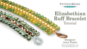 How to Bead Jewelry / Beading Tutorials & Jewel Making Videos / Bracelet Projects / Elizabethian Ruff Bracelet Tutorial