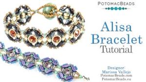 How to Bead Jewelry / Beading Tutorials & Jewel Making Videos / Bracelet Projects / Alisa Bracelet Tutorial
