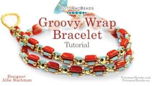 How to Bead Jewelry / Beading Tutorials & Jewel Making Videos / Bracelet Projects / Groovy Wrap Bracelet Tutorial