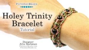 How to Bead / Free Video Tutorials / Bracelet Projects / Holey Trinity Bracelet Tutorial