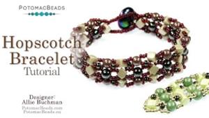 How to Bead Jewelry / Beading Tutorials & Jewel Making Videos / Bracelet Projects / Hopscotch Bracelet Tutorial