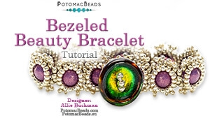 How to Bead / Free Video Tutorials / Bracelet Projects / Bezeled Beauty Bracelet Tutorial