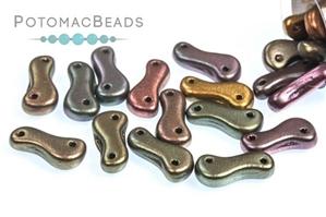 Czech Pressed Glass Beads / Link Bead