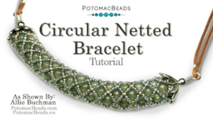 How to Bead Jewelry / Beading Tutorials & Jewel Making Videos / Bracelet Projects / Circular Netted Bracelet or Necklace Tutorial