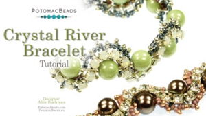 How to Bead Jewelry / Beading Tutorials & Jewel Making Videos / Bracelet Projects / Crystal River Bracelet Tutorial