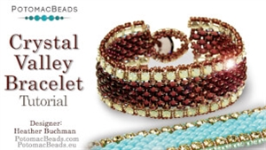 How to Bead Jewelry / Beading Tutorials & Jewel Making Videos / Bracelet Projects / Crystal Valley Bracelet Tutorial