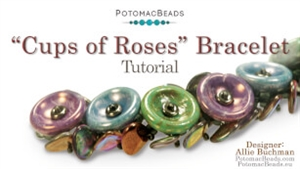 How to Bead Jewelry / Beading Tutorials & Jewel Making Videos / Bracelet Projects / Cups of Roses Bracelet Tutorial