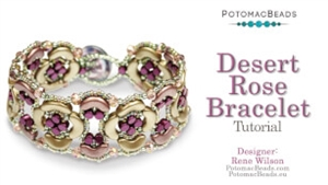 How to Bead / Free Video Tutorials / Bracelet Projects / Desert Rose Bracelet Tutorial
