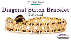 How to Bead Jewelry / Beading Tutorials & Jewel Making Videos / Bracelet Projects / Diagonal Stitch Bracelet Tutorial
