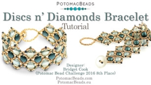 How to Bead / Free Video Tutorials / Bracelet Projects / Discs n' Diamonds Bracelet Tutorial
