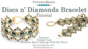 How to Bead Jewelry / Beading Tutorials & Jewel Making Videos / Bracelet Projects / Discs n' Diamonds Bracelet Tutorial