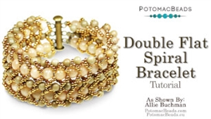 How to Bead / Free Video Tutorials / Bracelet Projects / Double Flat Spiral Bracelet Tutorial