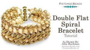 How to Bead Jewelry / Beading Tutorials & Jewel Making Videos / Bracelet Projects / Double Flat Spiral Bracelet Tutorial