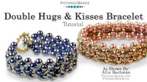 How to Bead Jewelry / Beading Tutorials & Jewel Making Videos / Bracelet Projects / Double Hugs & Kisses Bracelet Tutorial