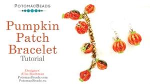 How to Bead Jewelry / Beading Tutorials & Jewel Making Videos / Bracelet Projects / Pumpkin Patch Earrings & Bracelet Tutorial
