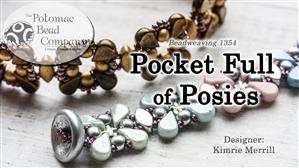 How to Bead / Free Video Tutorials / Bracelet Projects / Pocket Full of Posies Bracelet Beadweaving Tutorial