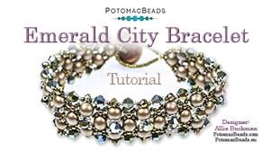 How to Bead Jewelry / Beading Tutorials & Jewel Making Videos / Bracelet Projects / Emerald City Bracelet Tutorial