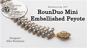 How to Bead Jewelry / Beading Tutorials & Jewel Making Videos / Bracelet Projects / RounDuo® Mini Embellished Peyote Bracelet Tutorial