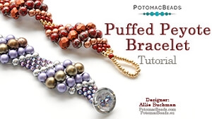 How to Bead Jewelry / Beading Tutorials & Jewel Making Videos / Bracelet Projects / Puffed Peyote Bracelet Beadweaving Tutorial