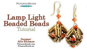 How to Bead / Free Video Tutorials / Beaded Beads / Lamp Light Beaded Beads Tutorial