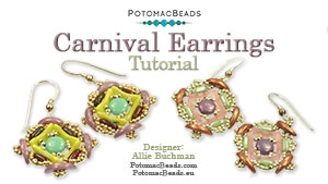 How to Bead / Free Video Tutorials / Earring Projects / Carnival Earrings Tutorial
