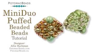 How to Bead / Free Video Tutorials / Beaded Beads / MiniDuo Puffed Beaded Beads Tutorial