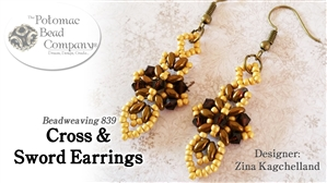 How to Bead Jewelry / Beading Tutorials & Jewel Making Videos / Earring Projects / Cross & Sword Earrings Tutorial