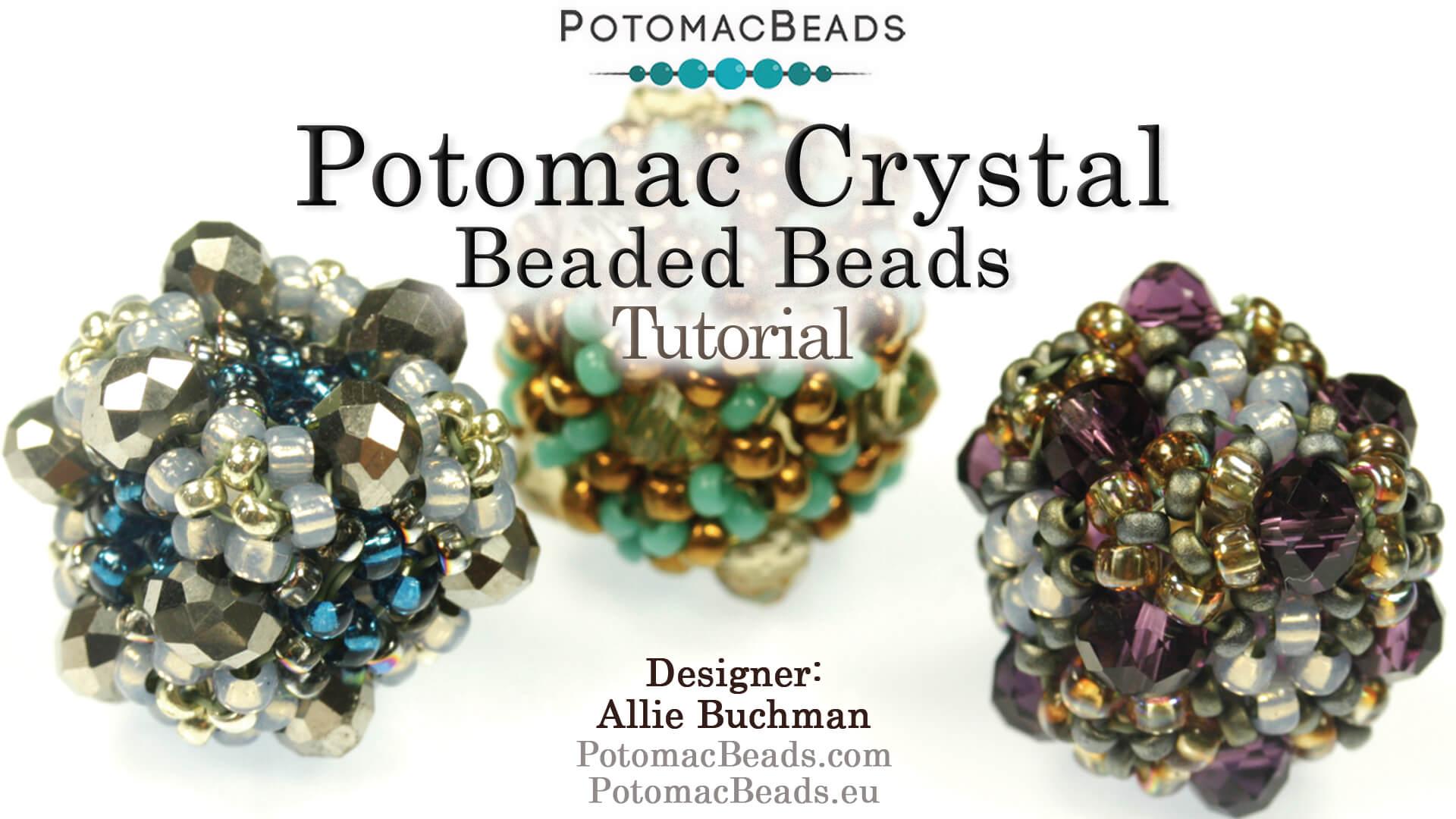 How to Bead / Free Video Tutorials / Beaded Beads / Potomac Crystal Beaded Bead Tutorial