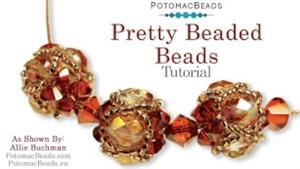 How to Bead / Free Video Tutorials / Beaded Beads / Pretty Beaded Beads Tutorial