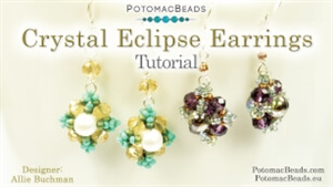 How to Bead / Free Video Tutorials / Earring Projects / Crystal Eclipse Earrings Tutorial