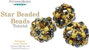 How to Bead Jewelry / Beading Tutorials & Jewel Making Videos / Beaded Beads / Star Beaded Beads Tutorial