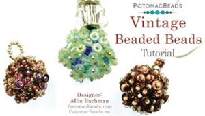 How to Bead / Free Video Tutorials / Beaded Beads / Vintage Beaded Ball Tutorial