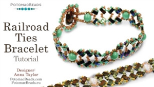 How to Bead / Free Video Tutorials / Bracelet Projects / Railroad Ties Bracelet Tutorial
