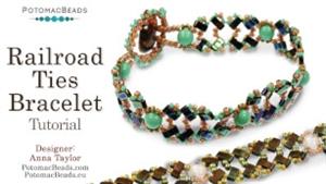 How to Bead Jewelry / Beading Tutorials & Jewel Making Videos / Bracelet Projects / Railroad Ties Bracelet Tutorial