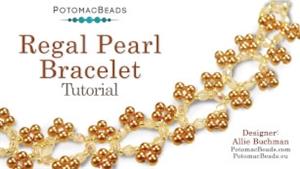How to Bead Jewelry / Beading Tutorials & Jewel Making Videos / Bracelet Projects / Regal Pearl Bracelet Tutorial