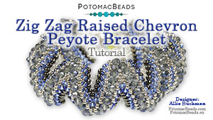 How to Bead / Free Video Tutorials / Bracelet Projects / Zig Zag Raised Chevron Peyote Bracelet Tutorial