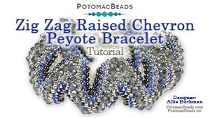 How to Bead Jewelry / Beading Tutorials & Jewel Making Videos / Bracelet Projects / Zig Zag Raised Chevron Peyote Bracelet Tutorial