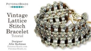 How to Bead Jewelry / Beading Tutorials & Jewel Making Videos / Bracelet Projects / Vintage Lattice Stitch Bracelet Tutorial