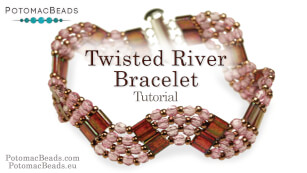 How to Bead Jewelry / Beading Tutorials & Jewel Making Videos / Bracelet Projects / Twisted River Bracelet Tutorial